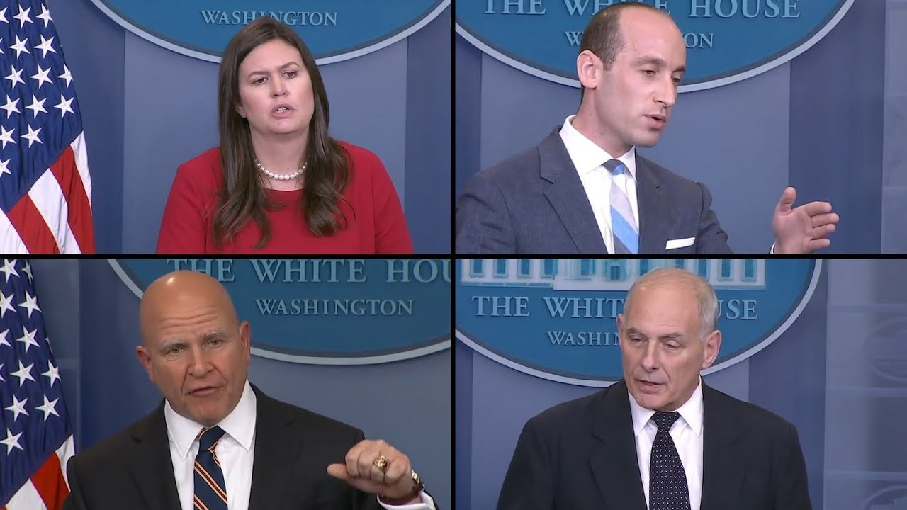 How Stephen Miller and Sarah Huckabee Sanders Defend President Trump