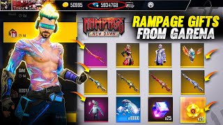 Rampage New Dawn \u0026 Fabled Four Gifts From Garena Free Fire - Tonde Gamer Reaction !!
