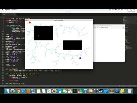 Rapidly Exploring Random Trees | RRT | Code + Description | Python