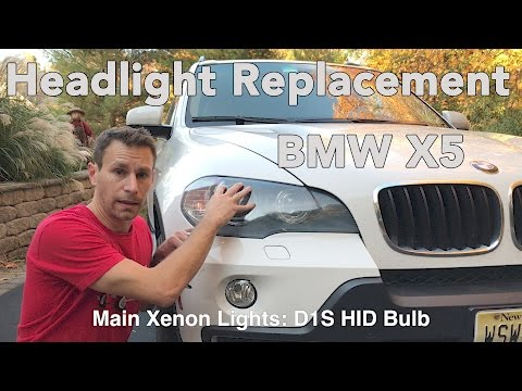 How To Change a BMW X5 Headlight Bulb (E70 2007-2013)