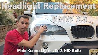 How To Change a BMW X5 Headlight Bulb E70 2007 2013