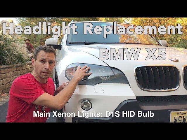 How To Change a BMW X5 Headlight Bulb (E70 2007-2013) - YouTube