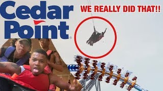 WE RODE THIS CRAZY RIDE AT CEDAR POINT 🙀🦅