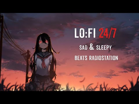 🔴LoFi hip hop radio - sad & sleepy beats🎧24/7