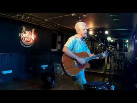 Devil Comes A Knocking live looped original song Paul Strummer Horseshoe Wellingborough July 2015