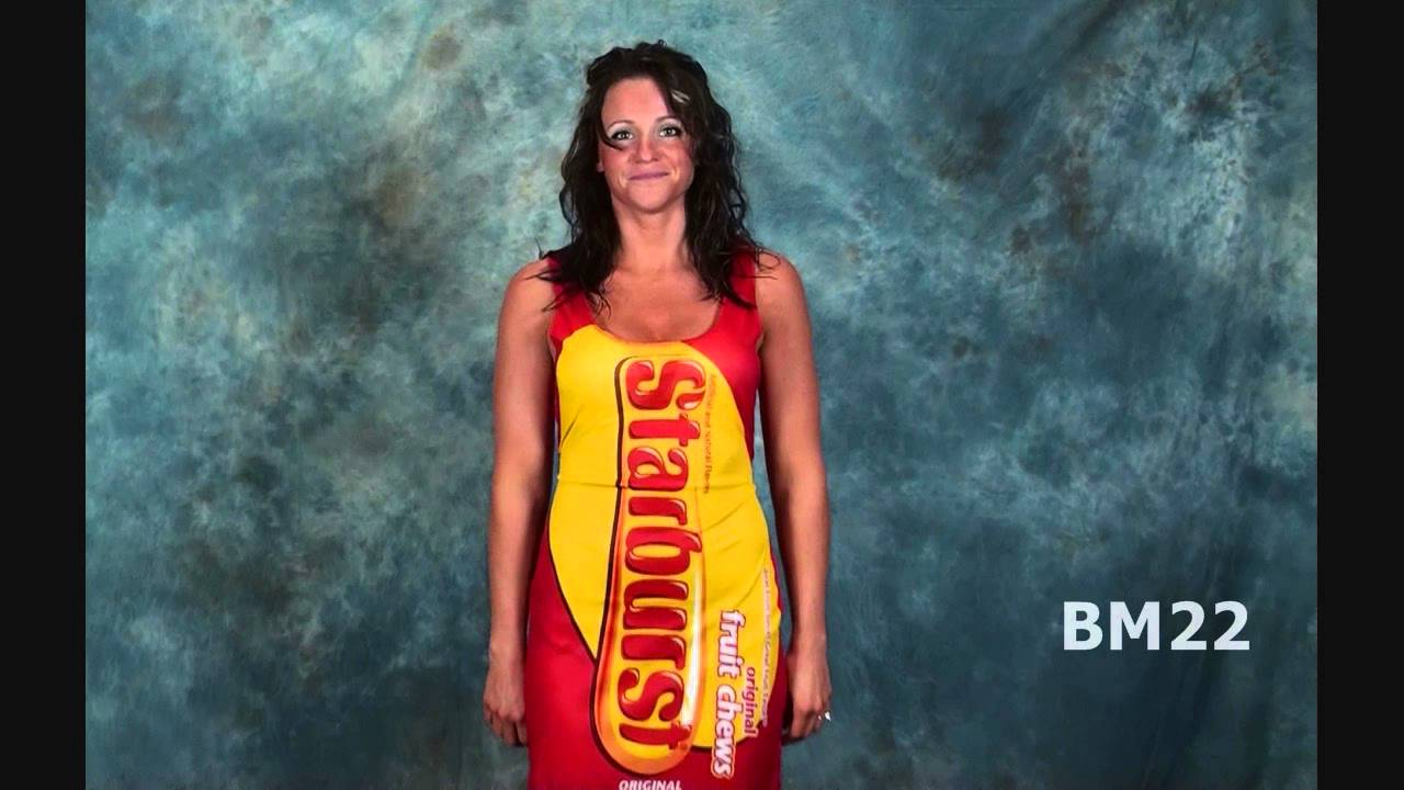 Starburst Candy Tank Dress Halloween Costume Review - YouTube