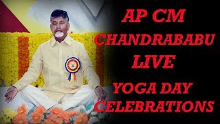AP CM Nara Chandrababu Naidu live from the yoga day celebrations, Amaravati | Telugu Insider