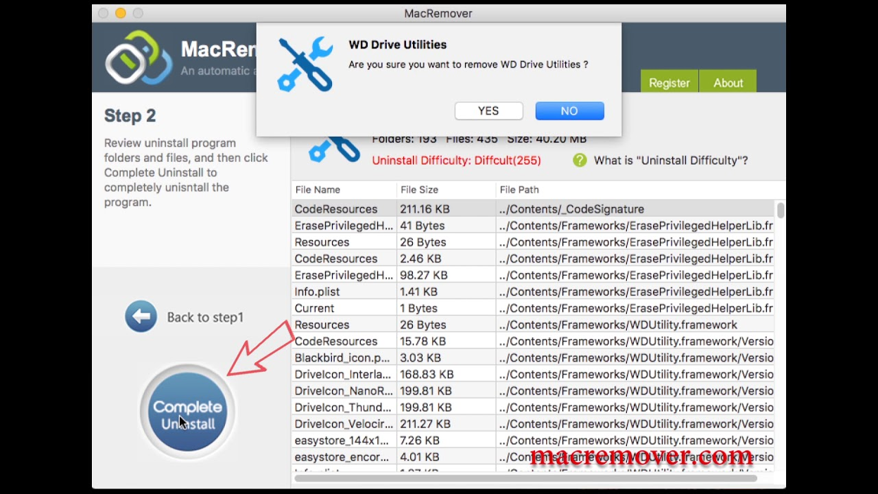 How to remove WD Drive Utilities on your macOS and Mac OS X?