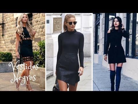 Outfits Con Vestidos Negro/2018
