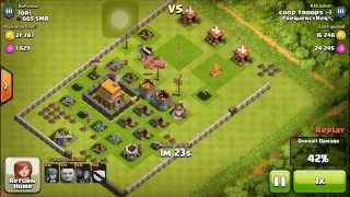 clashing with merkin tame (clash of clans) (raid with Coop troops :-)) (One Minute - Krewella) Ep.1