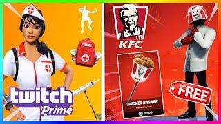 DARMOWY SKIN KFC GAMING?! NOWY ZESTAW TWITCH PRIME! | FORTNITE