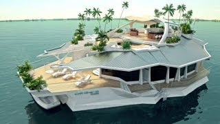 $6 5 Million Floating House - ORSOS Artificial Islands