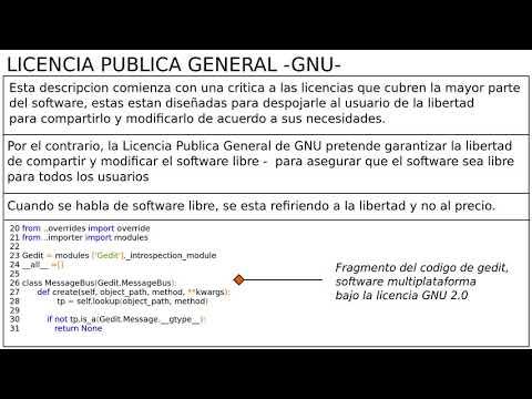 Licencia Publica General -GNU-