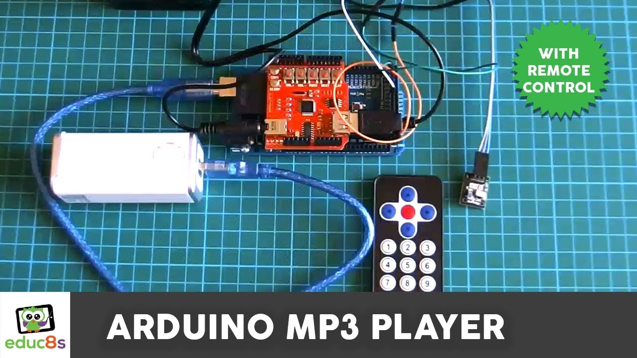 Arduino MP3 Player Project with Remote Control  - educ8s tv