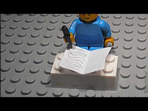 Lego Man Writing Hd Turned Out Pretty Decent Youtube