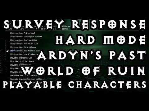 Final Fantasy XV - My Survey Response and Thoughts (SPOILERS!)