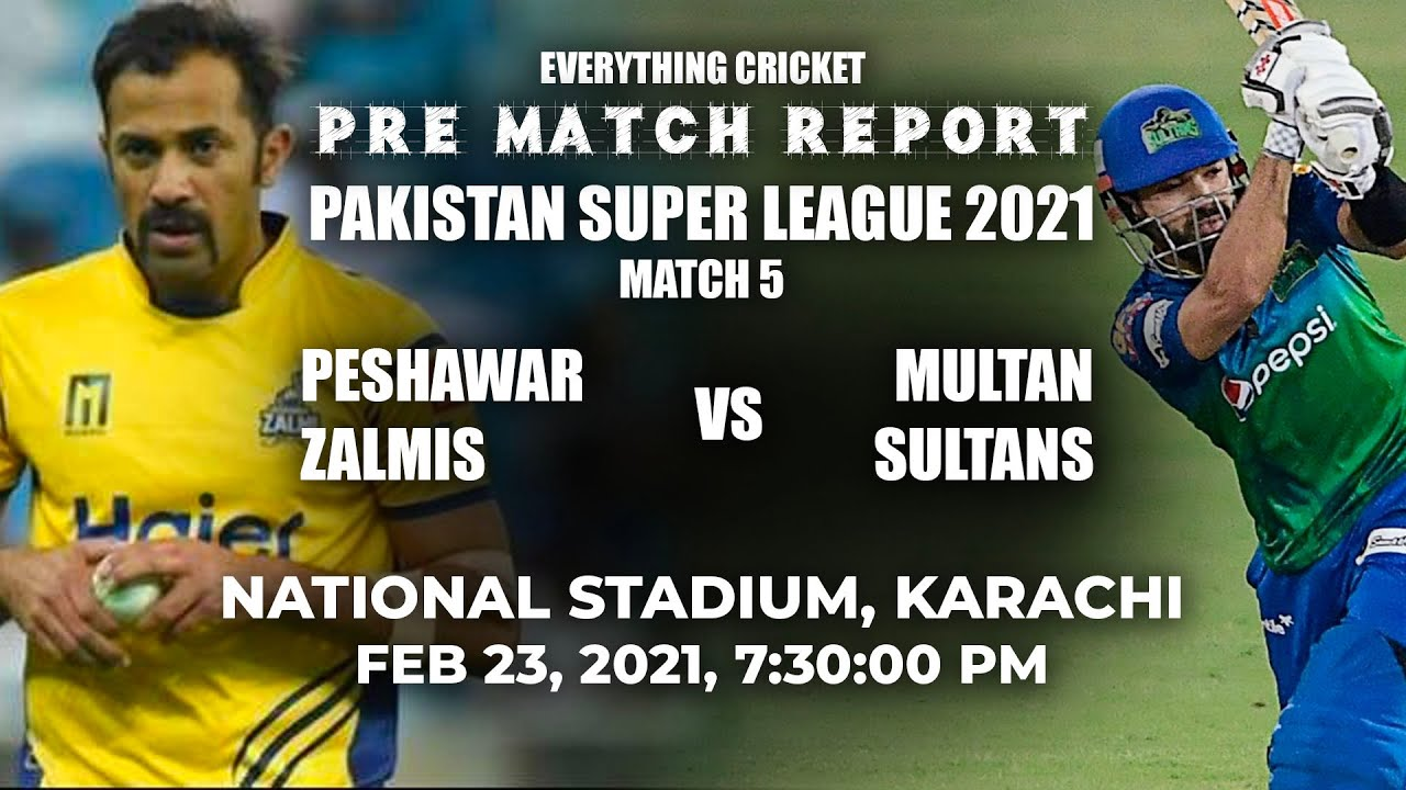 PSL 2021 : 5th Match, Peshawar Zalmis vs Multan Sultans | Pre-match Analysis | #PSL6 #HBLPSL6