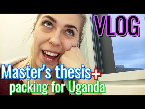 Master's Thesis Mechanical Engineering ETH Zurich Vlog + Packing for Uganda