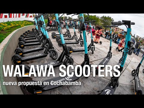 Walawa scooters, emprendimiento nuevo en Cochabamba