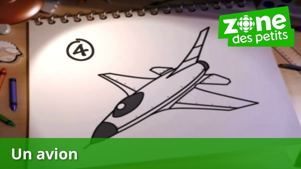 Je Dessine Un Avion Youtube