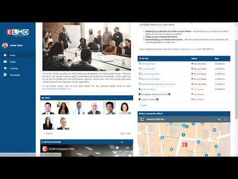 ELMO Software – General System Demo for SMBs
