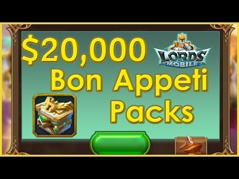 Bren Chong Opens $20,000 Of Bon Appeti Packs - Lords Mobile