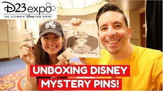 D23 EXPO 2019 Disney Mystery Pin Unboxing! TINY KINGDOM PINS! (Collab w/DisneyKittee)