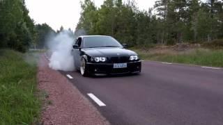 """Bmw e46 328ci 3"""" exhaust sound + burnout"""