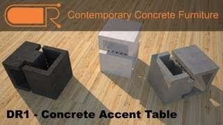 Contemporary Concrete Coffee Tables DR1 The Link Accent and Side Table