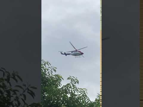 QG Air Rescue 521 leaving Townsville Hospital