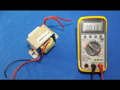 110v 220v Motor Wiring Diagram How To Test A Transformer With Digital Multimeter And