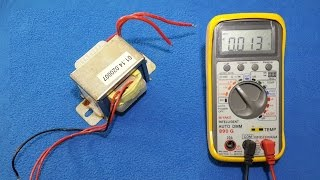 how to test a transformer with digital multimeter and oscilloscope