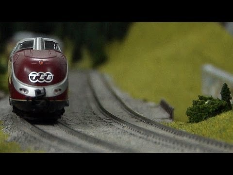 Model Railway Layout about the Rhinegold and TEE Trans Europe Express in HO Scale