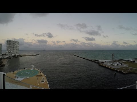 [4K] Harmony of the Seas Cruise Ship Leaving Port Everglades Royal Caribbean December 2016 Part 4.