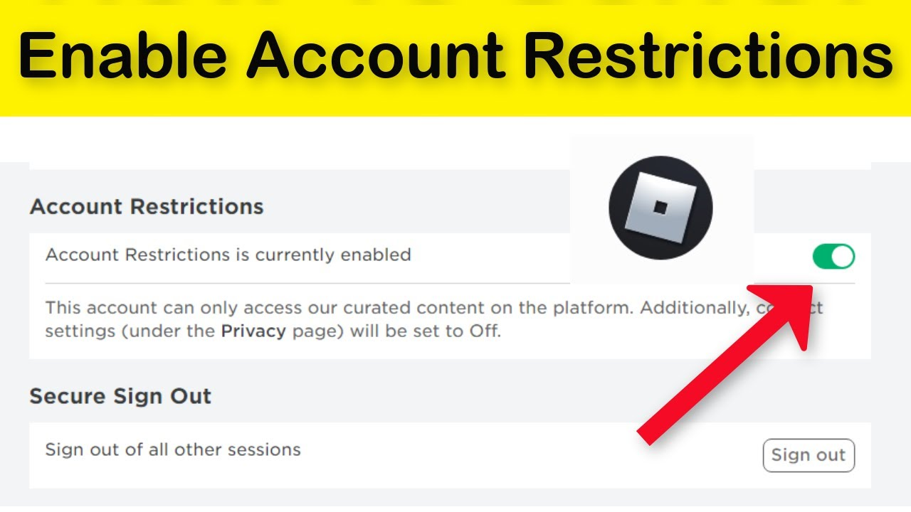 How To Enable / Disable Roblox Account Restrictions Windows 10/8/7