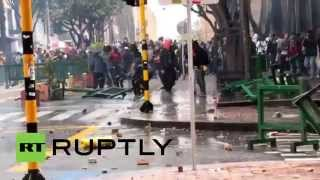 Columbian President Calls For Calm As Deadly Clashes In Bogota