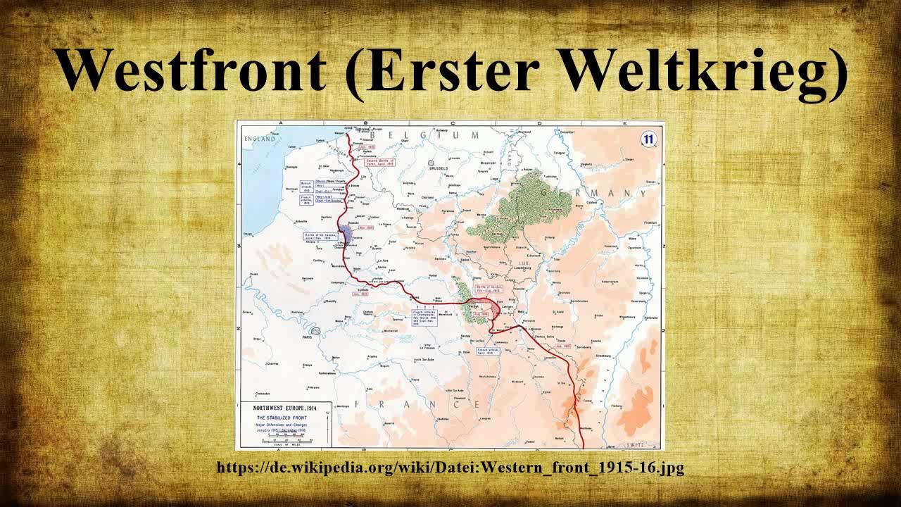 Westfront 1 Weltkrieg Karte.Westfront Erster Weltkrieg