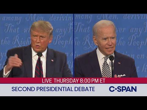 Second 2020 Presidential Debate between Donald Trump and Joe Biden
