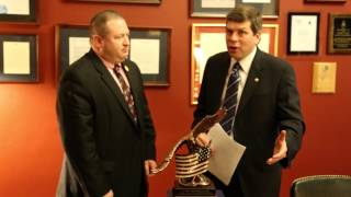 "Begich Minute: Begich Receives ""Eagle"" Award for Work to Advance U.S. National Guard Interests"
