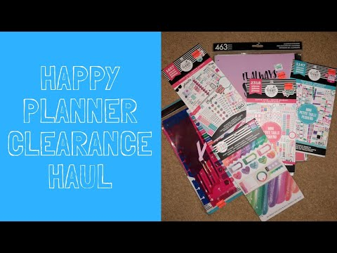 Happy Planner Sticker Haul | Hobby Lobby Clearance | Jessica Sunshine