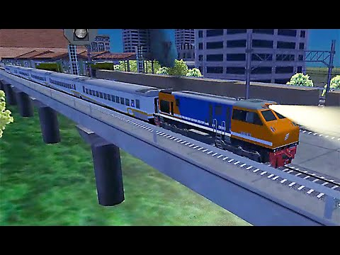 Train Sim California Coast Using Emd F9 In Rainy Day Simulasi Kereta Api Youtube