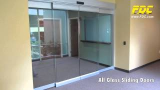 All Glass Sliding Doors Installation by Florida Door Control of Orlando