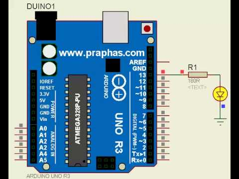 Arduino UNO R3 Simulation by Proteus - YouTube