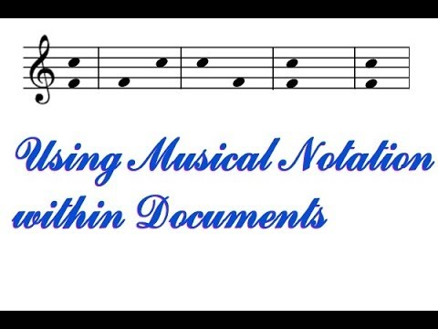Musical Notes in Word etc.