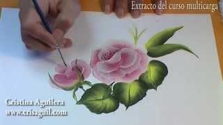 Curso pintura muticarga , pintando rosas