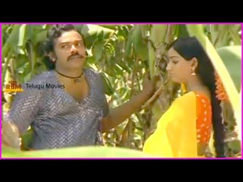 chiranjeevi-and-menaka-scenes---back-2-back-|-punnami-nagu-movie-scene