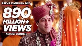'PREM RATAN DHAN PAYO' Title Song (Full VIDEO) | Salman Khan, Sonam Kapoor | Palak Muchhal T-Series