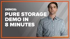 Pure Storage Demo in 8 Minutes