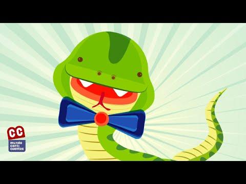 La Serpiente de Tierra Caliente, Canticuentos, Lyric Video - Kids Song