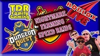 Roblox Dungeon Quest: NIGHTMARE SPEED RAIDS - All Dungeons (101-109) - Stream